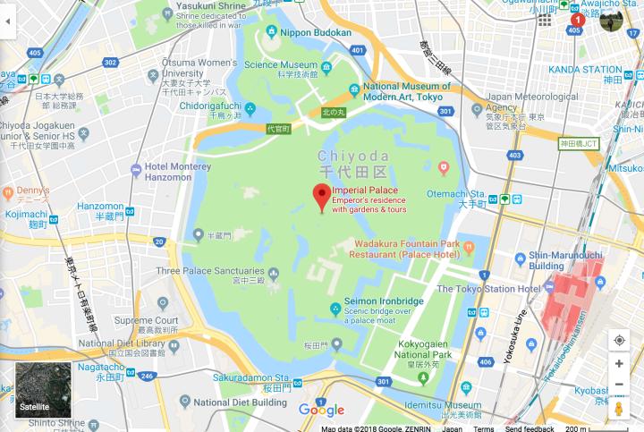 Mappa del Palazzo Imperiale