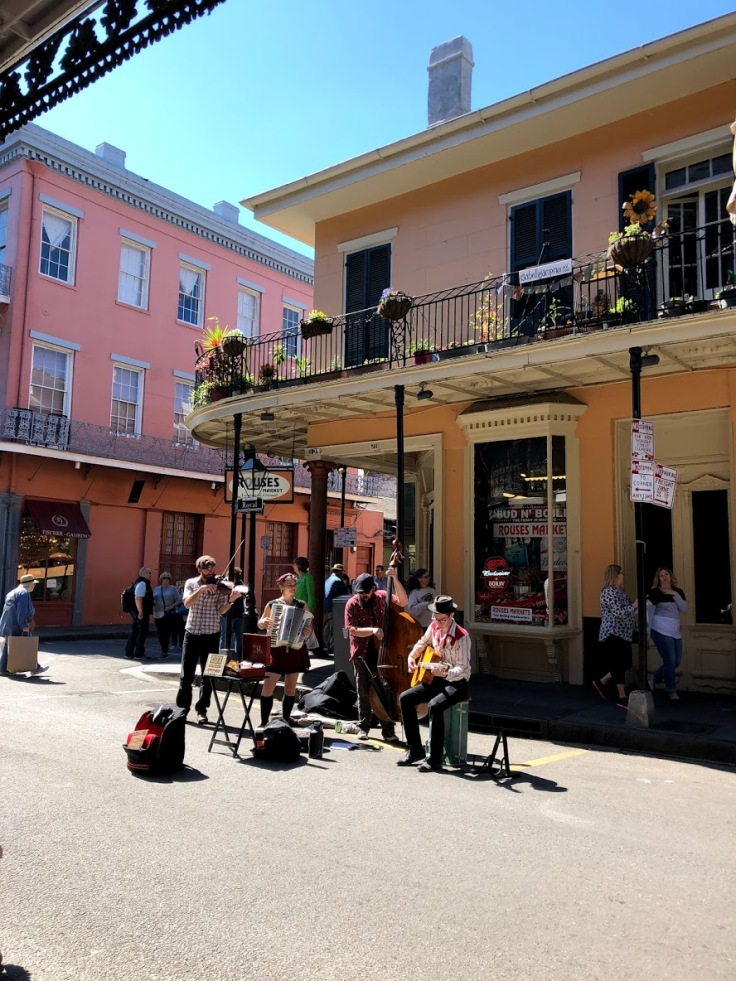 Live music on Bourbon Street