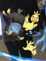 "Chocobo: particolare dell'opera ""Big Bang"" / Zoom in of the chocobo in the ""Big Bang"" murales"