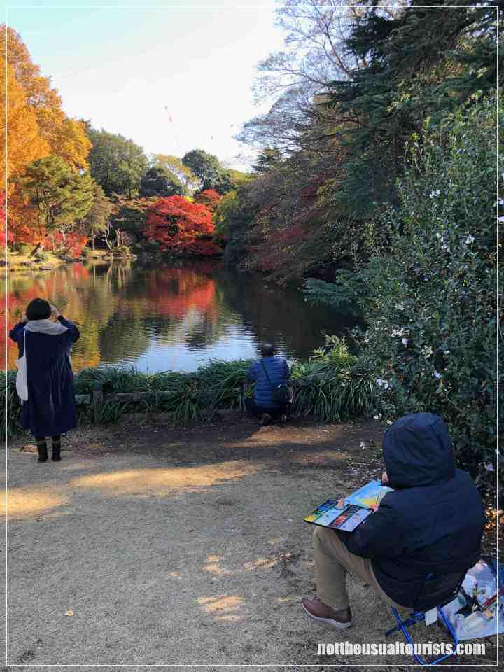 People watching at Shinjuku Gyoen