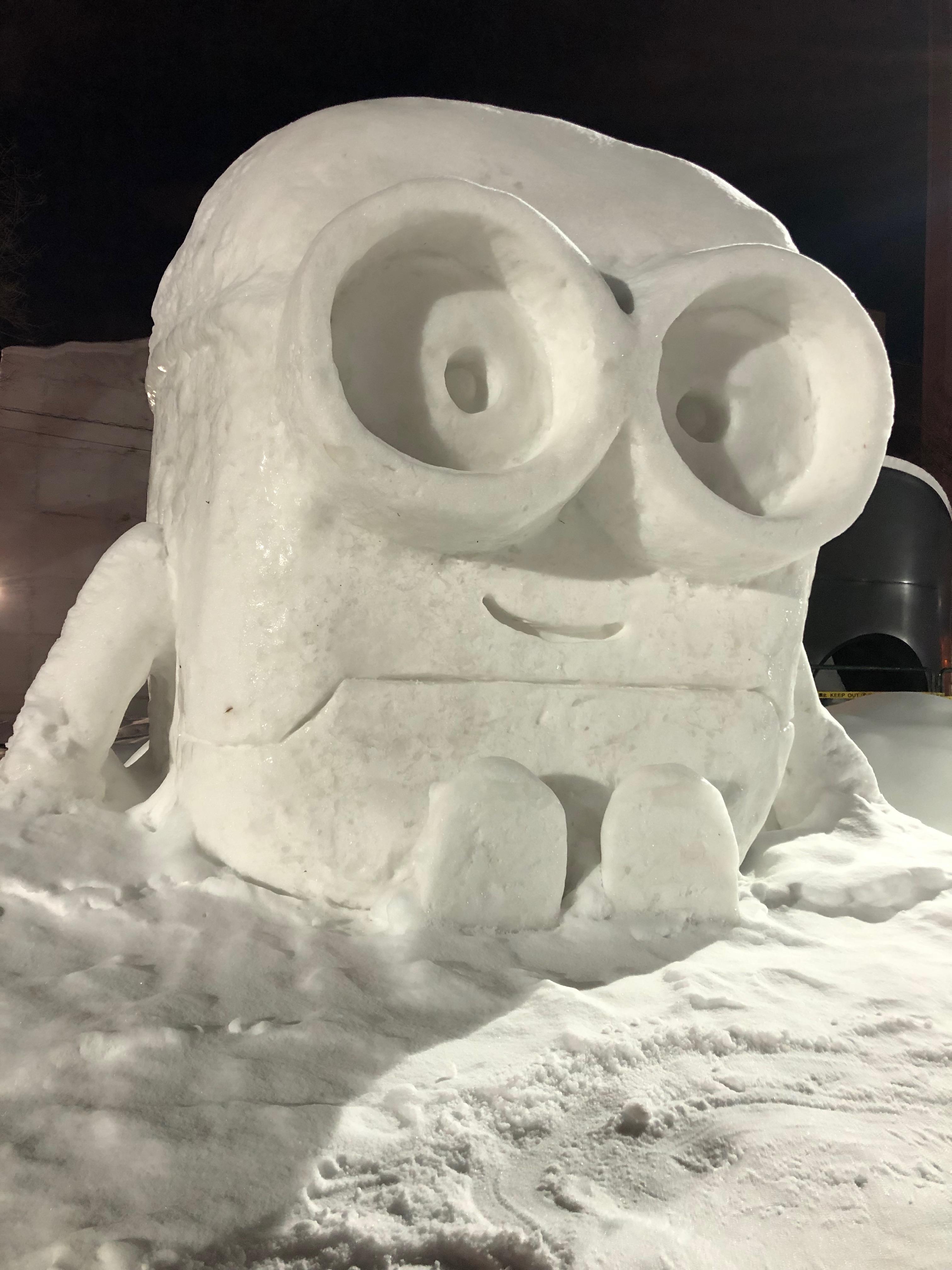 Minions, Citizens' Snow Sculptures