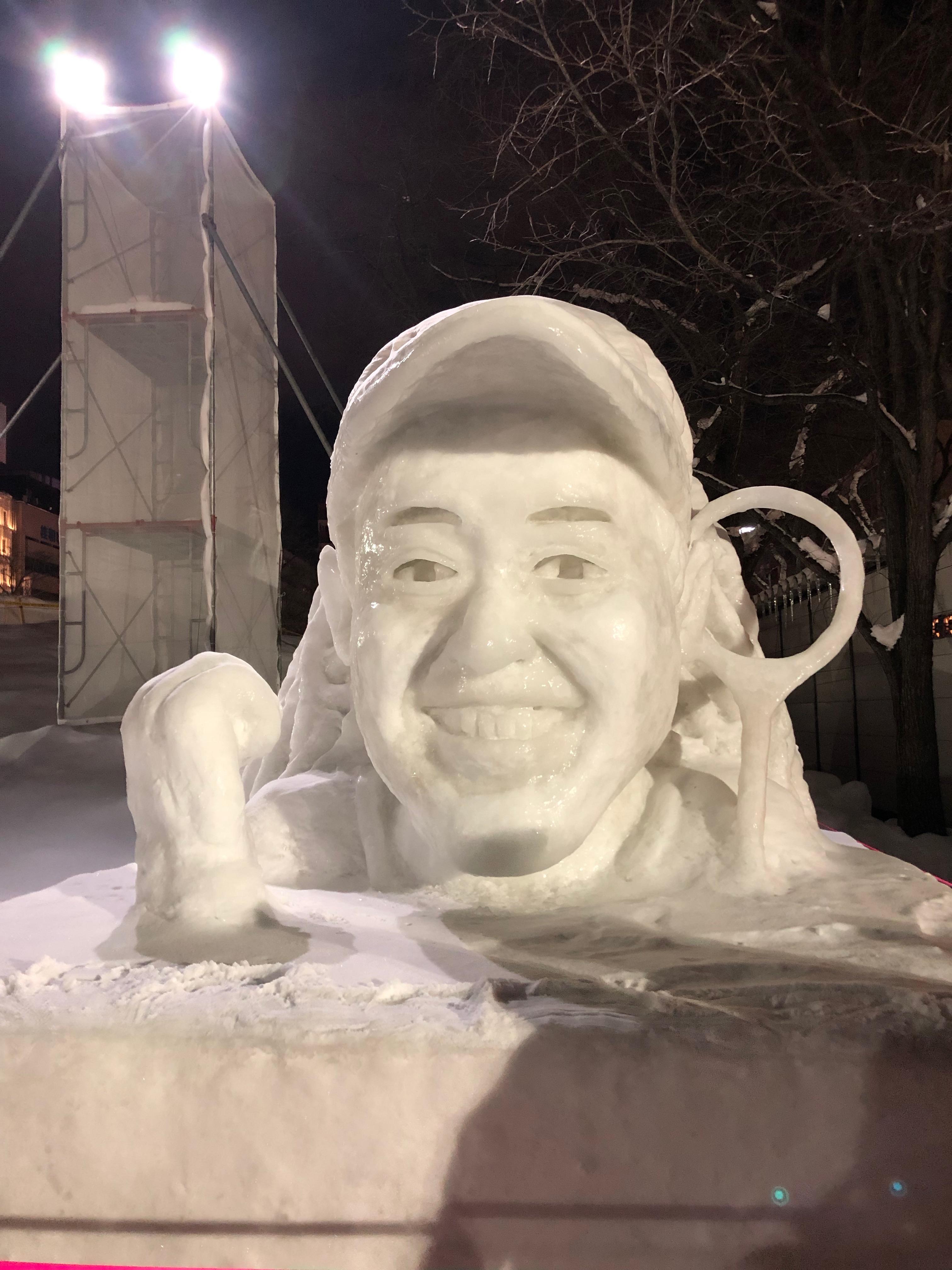 Naomi Osaka, Citizens' Snow Sculptures