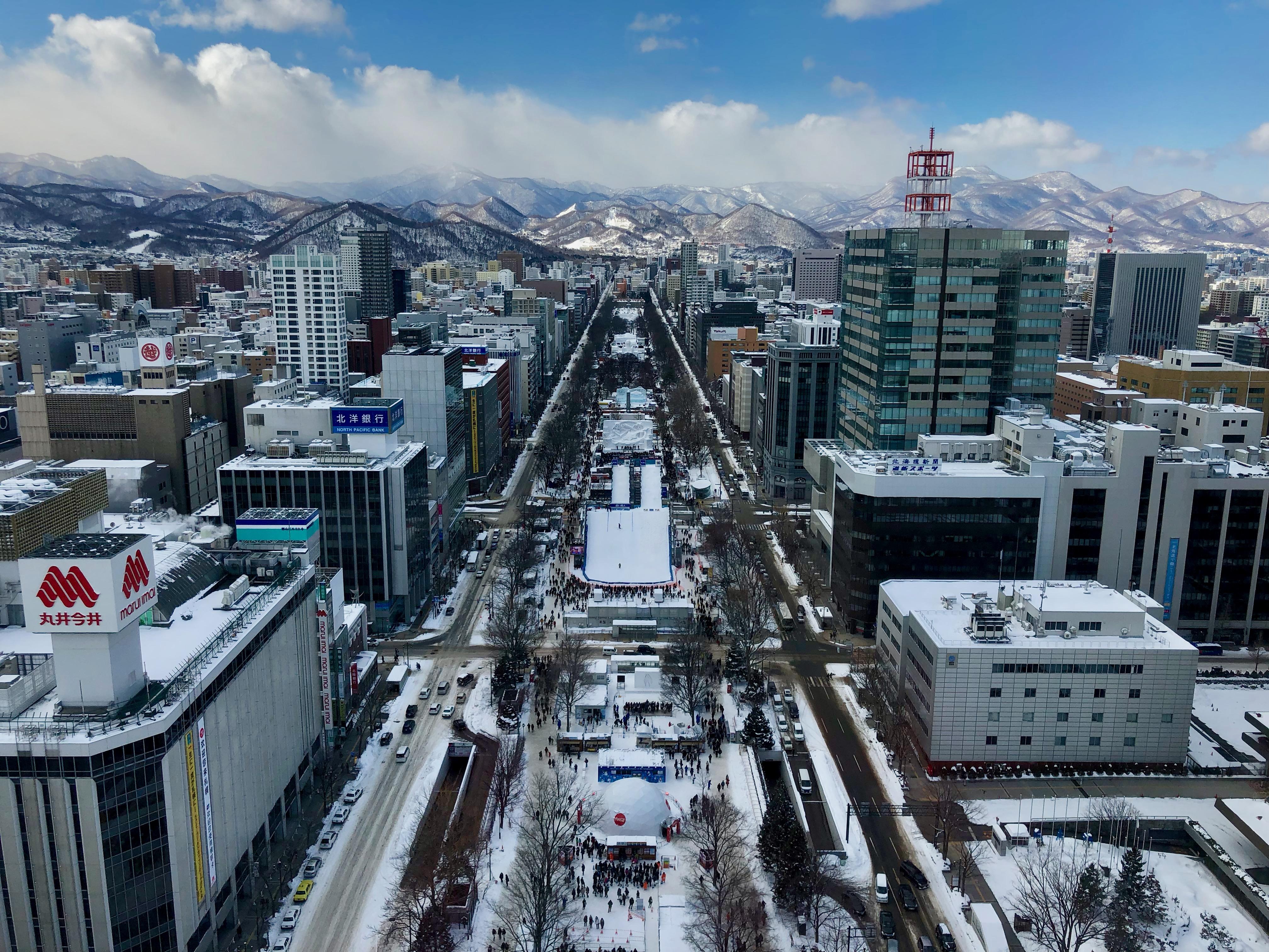Sapporo dall'alto / Sapporo from above