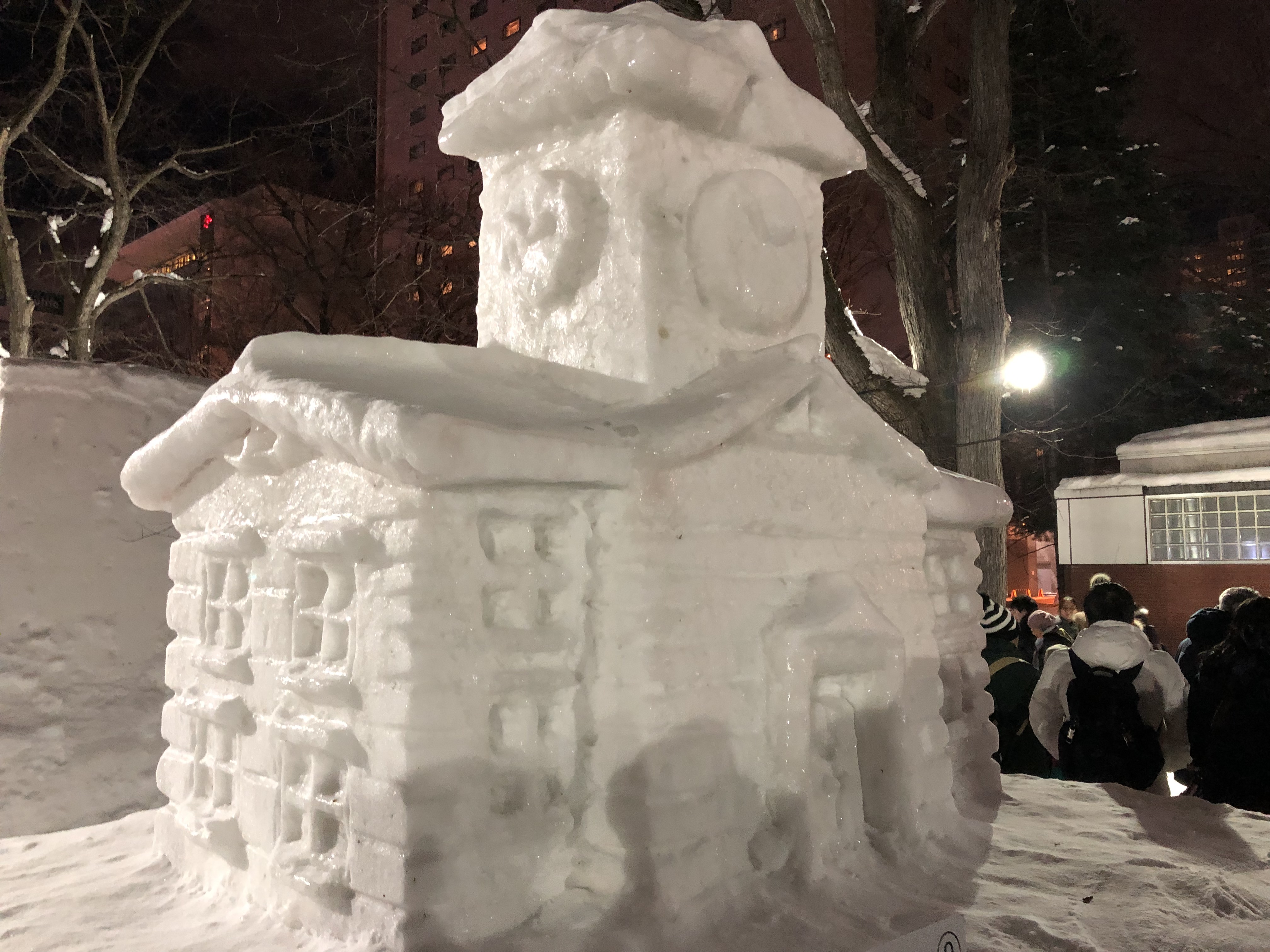 Sapporo ice clock tower, Citizens' Snow Sculptures