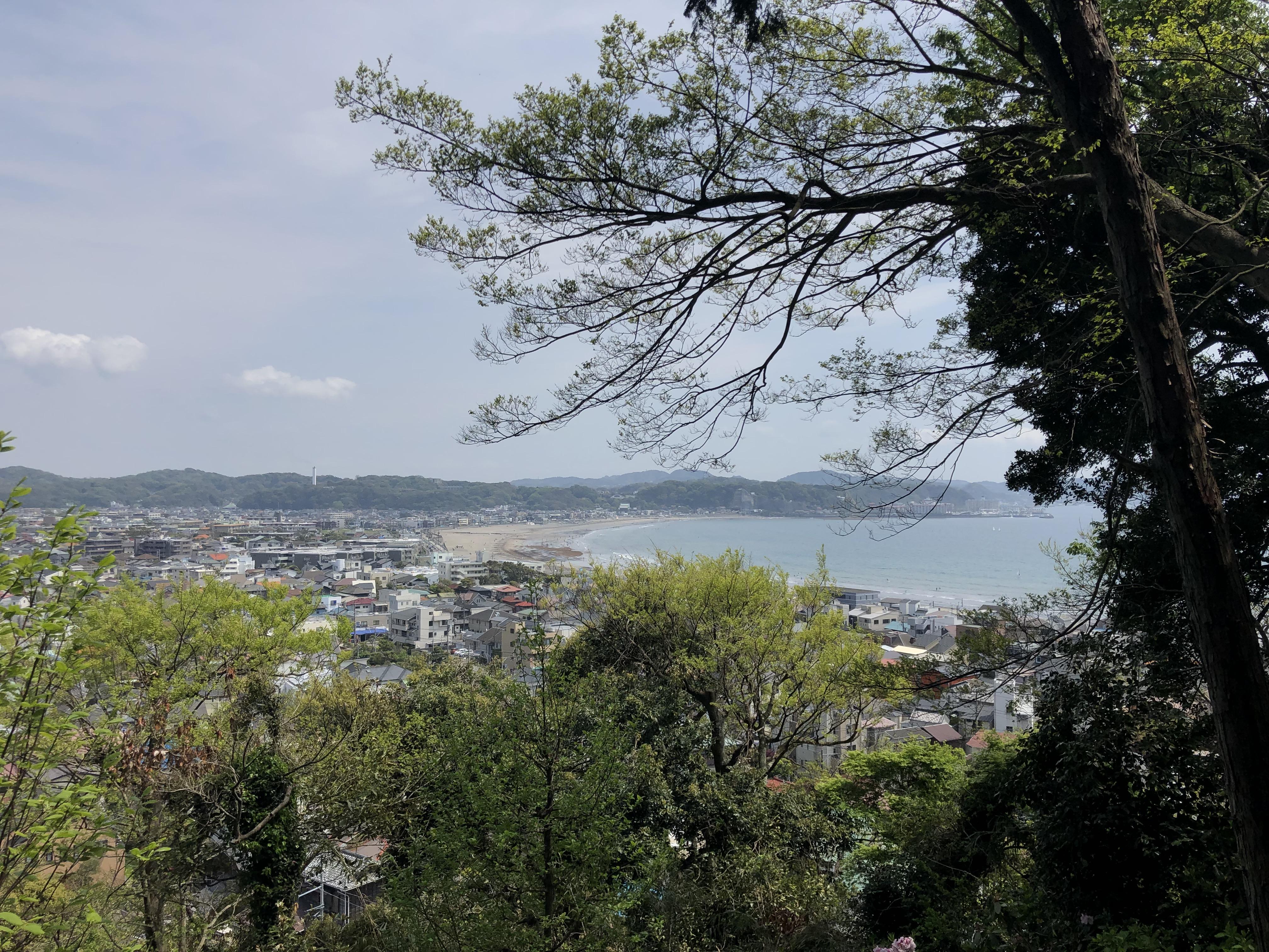 Vista di Kamakura dal tempio Hasedera